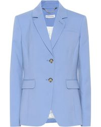 Altuzarra Fenice Stretch Wool Blazer - Blue