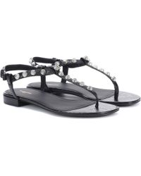 Balenciaga - Classic Screw Studded Leather Sandals - Lyst