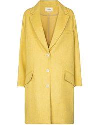 Étoile Isabel Marant Limi Wool-blend Coat - Yellow