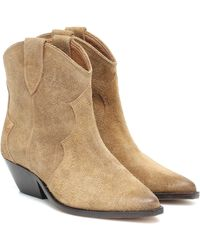 Isabel Marant Dewina Suede Ankle Boots - Brown