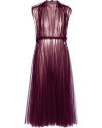 Khaite Exclusive To Mytheresa – Alix Tulle Midi Dress - Red
