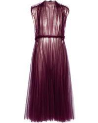 Khaite Exclusive To Mytheresa – Alix Tulle Midi Dress - Purple