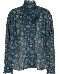 Étoile Isabel Marant Pamias Floral Cotton Voile Blouse - Green