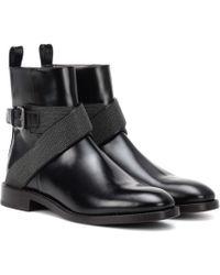 Brunello Cucinelli Ankle Boots aus Leder - Schwarz