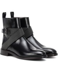 Brunello Cucinelli Leather Ankle Boots - Black