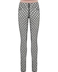 Gucci GG Tulle leggings - Black