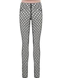 Gucci Leggings GG aus Tüll - Schwarz