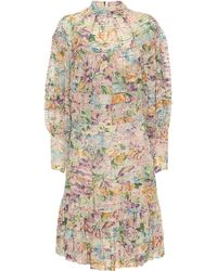Zimmermann Ninety-six Pintuck Minidress - Multicolour