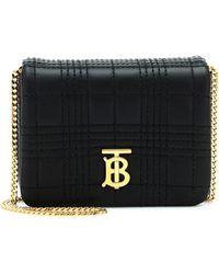 Burberry Lola Mini Leather Shoulder Bag - Black