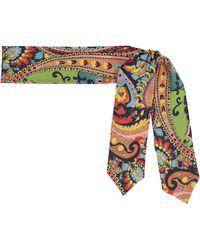 Etro Bedruckter Schal aus Seiden-Twill - Mehrfarbig