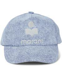 Isabel Marant Baseballcap Tyron aus Baumwolle - Blau