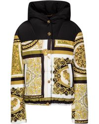 Versace Barocco Mosaic Down Jacket - Metallic
