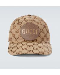 Gucci Gorra de béisbol GG de lona - Marrón