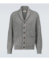 Brunello Cucinelli Cardigan châle en laine et cachemire - Gris
