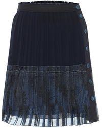 Chloé Minigonna plissé in seta - Blu