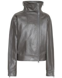 Acne Studios Leather Jacket - Gray