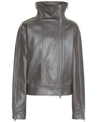 Acne Studios Leather Jacket - Gray