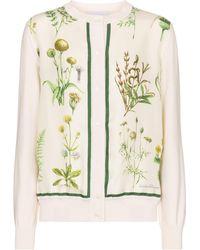 Ferragamo Floral Silk And Cotton Cardigan - Multicolour