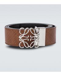 Loewe Anagram Leather Belt - Brown