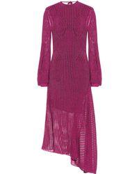 Chloé Cotton-blend Knit Dress - Purple