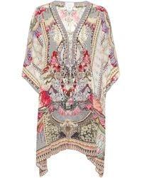 Camilla Printed Silk Kaftan - Multicolor