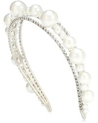 Givenchy Ariana Embellished Headband - White