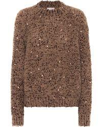 Brunello Cucinelli Sequined Sweater - Green