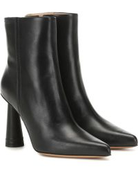 Jacquemus Cone Heel Ankle Boots - Black