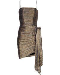 Rebecca Vallance Rivero Metallic Minidress