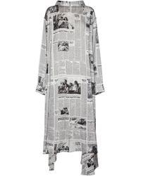 Balenciaga Printed Maxi Dress - Gray