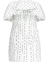 Self-Portrait - Polka-dot Strapless Tulle Minidress - Lyst