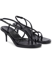Alexander McQueen Leather Sandals - Black