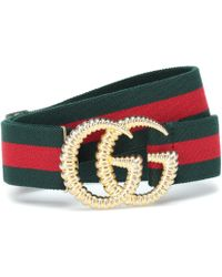 Gucci GG Striped Web Belt - Multicolour