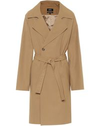 A.P.C. Bakerstreet Trench Coat - Natural