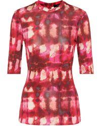Ellery Land Of The Lost Tie-dye Top - Red