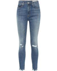 Rag & Bone High-Rise Skinny Jeans Nina - Blau