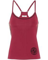 Fendi Tank top FF - Rojo