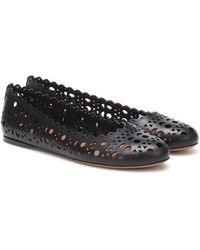 Alaïa Ballerines en cuir - Noir