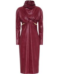 Stella McCartney Willow Faux Leather Dress - Red