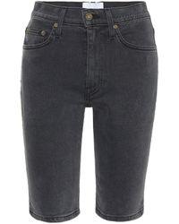Nanushka Kiki Stretch-denim Shorts - Black