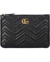 Gucci GG Marmont Clutch - Black