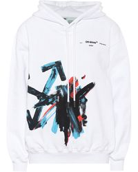 Off-White c/o Virgil Abloh Brushstroke Arrow Cotton Hoodie - White