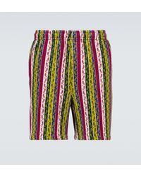 Bode Primary Striped Merino Shorts - Multicolour