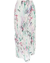 Isabel Marant Jupe midi Fabiana imprimée en soie - Multicolore