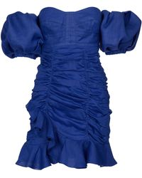 Isabel Marant Minikleid Jasmine aus Ramie - Blau