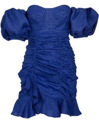 Isabel Marant Robe Jasmine à encolure bardot - Bleu