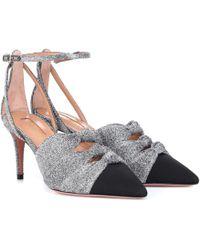 Aquazzura Mondaine 75 Lurex Court Shoes - Metallic