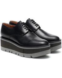 Clergerie Bradie Leather Platform Derby Shoes - Brown