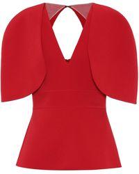 Safiyaa Orion Stretch-crêpe Top - Red