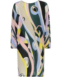 Emilio Pucci Printed Wool-blend Jersey Minidress - Multicolour